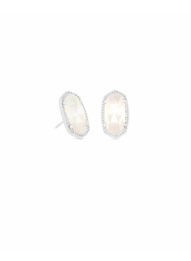 Ellie Stud Earring- Rhodium