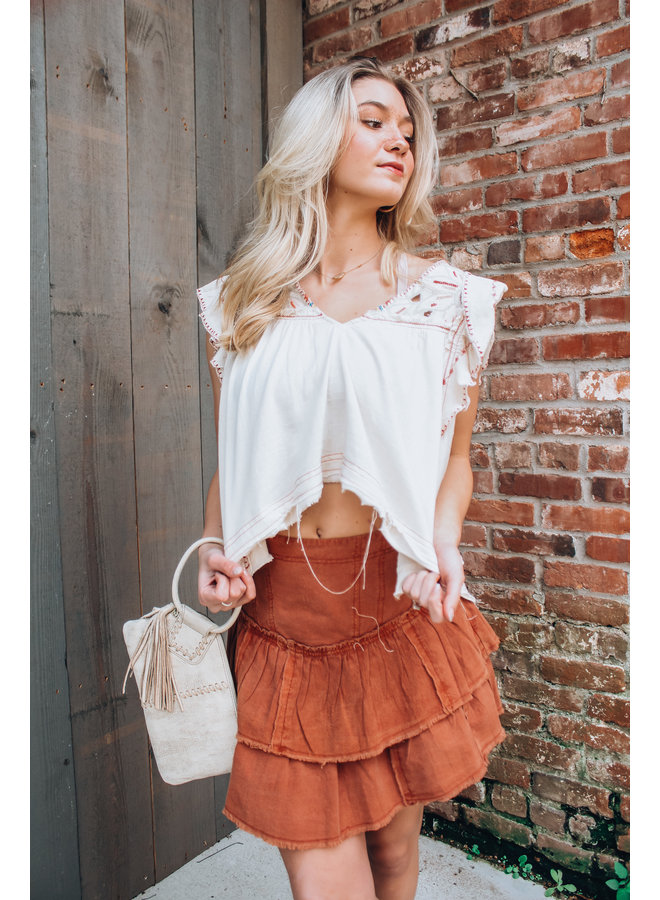 Hailey Embroidered Top