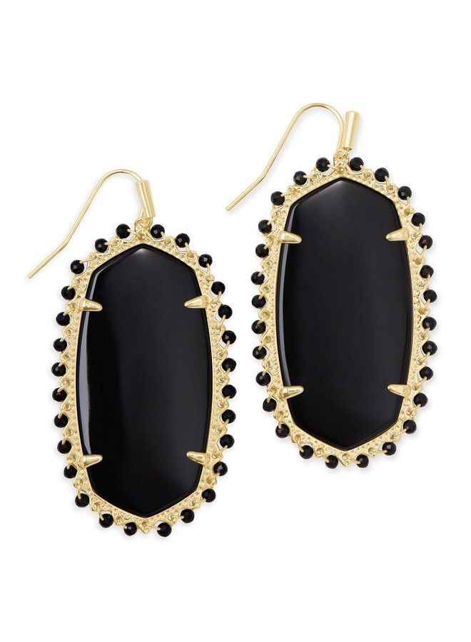 Beaded Danielle Gold Earring