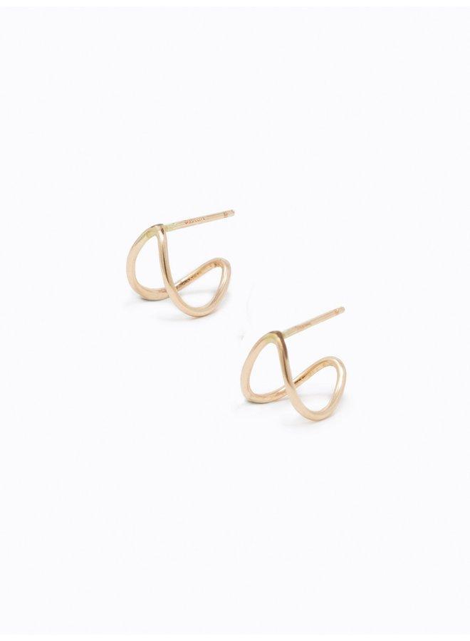 Gold Ear Hugs Earrings