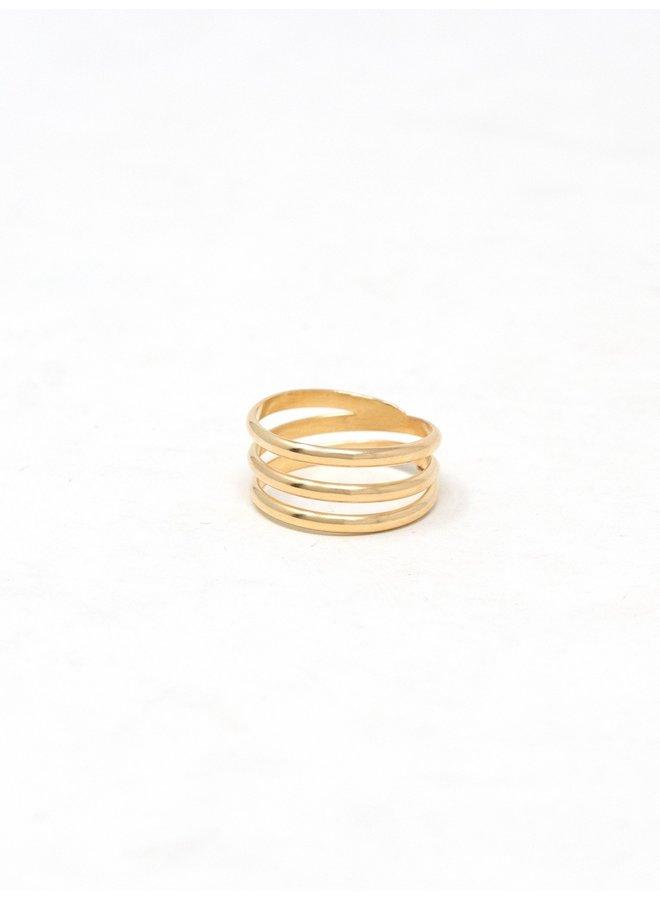 Gold Contour Ring