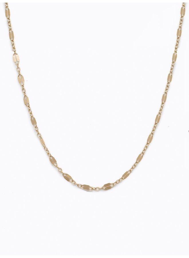 Gold Metal Link Choker Necklace