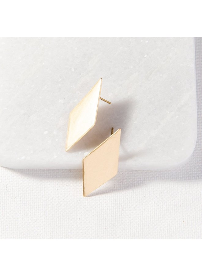Small Diamond Post Earring