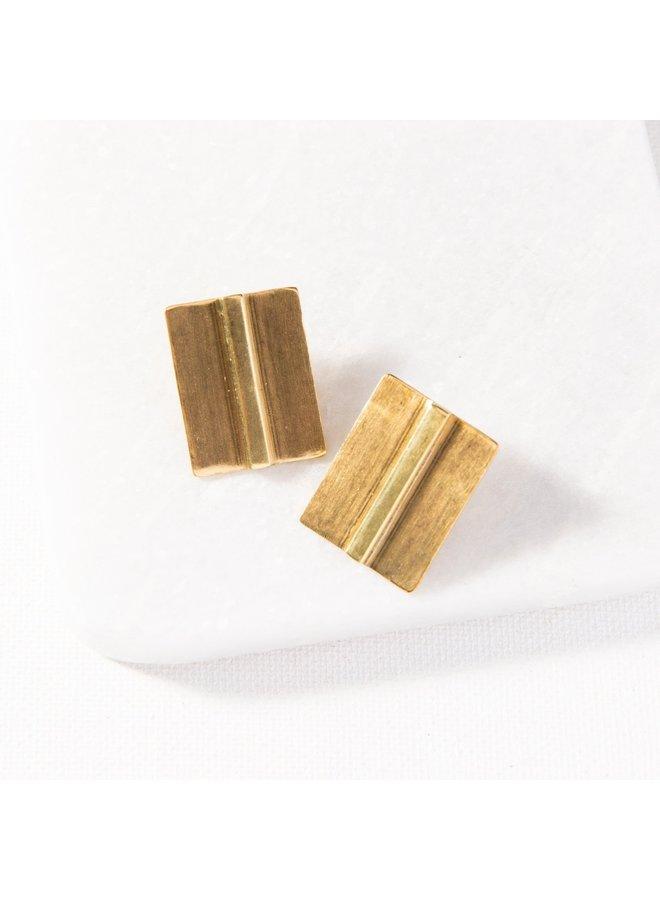 Small Brass Bar Stud