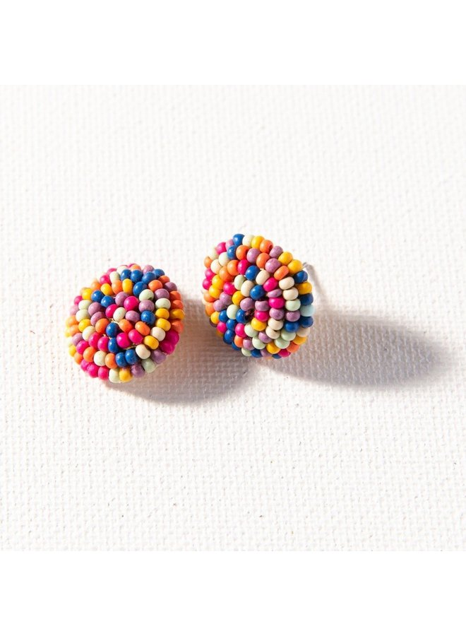 Beaded Button Studs