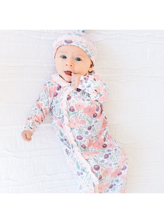 Mayfair Organic Cotton Gown and Hat Set
