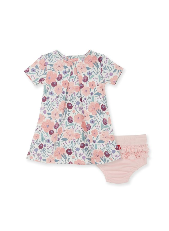 Mayfair Organic Cotton Dress and Diaper Cover Set