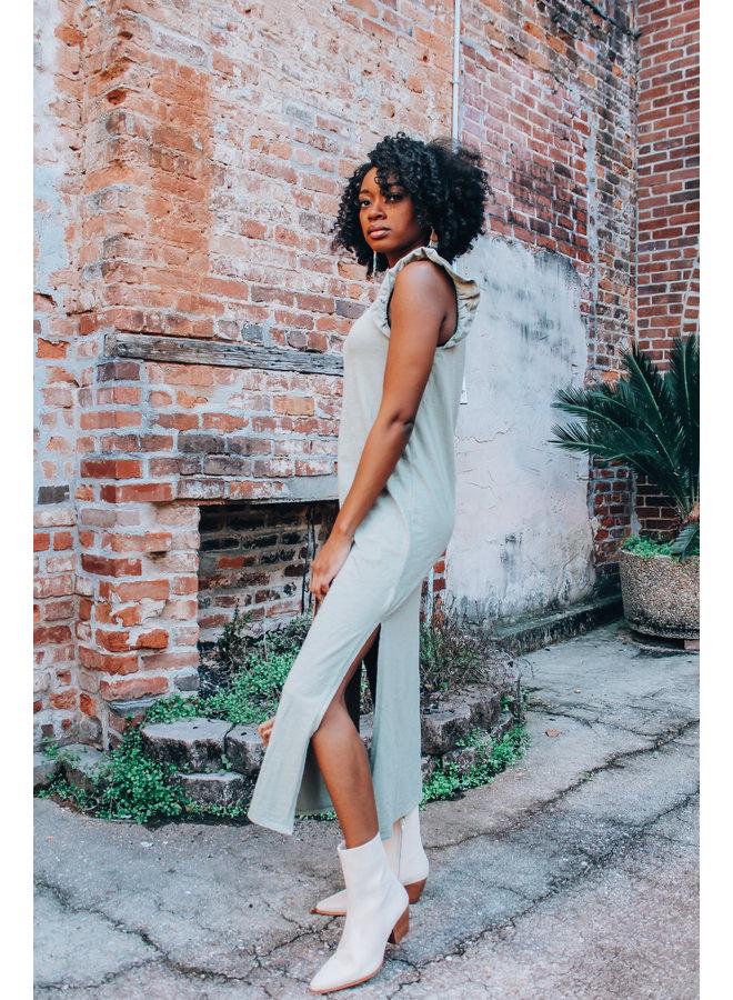 Blakely Slub Ruffle Dress