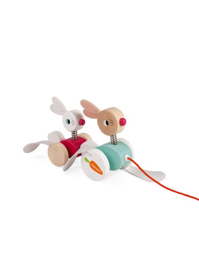 Zigolos Pull Along Rabbits