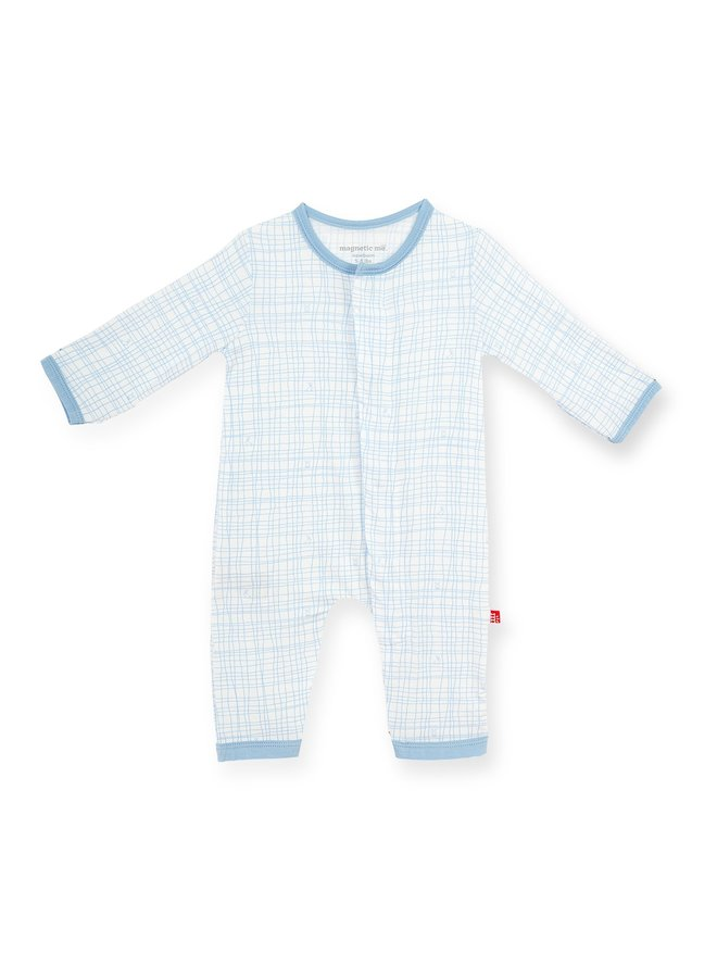 Greenwich Plaid Magnetic Coverall