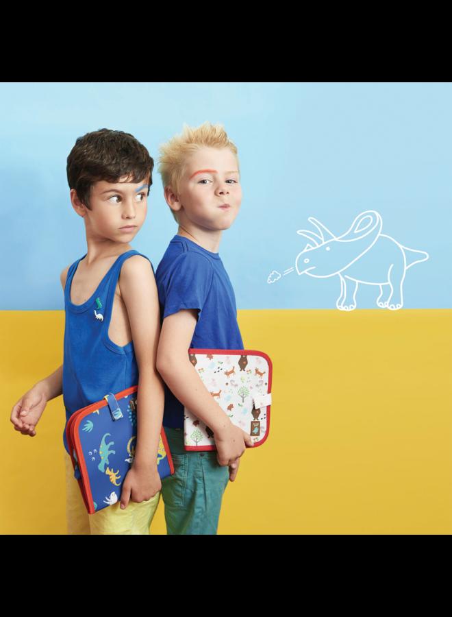 Dino Color It & Go Erasable Book