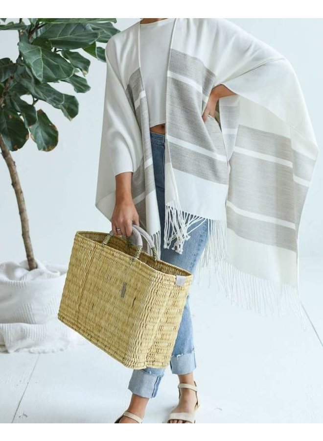 Medina Market Basket w/ Leather Handles