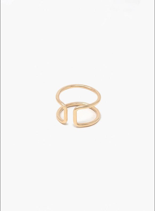 Gold V2 Cuff Ring