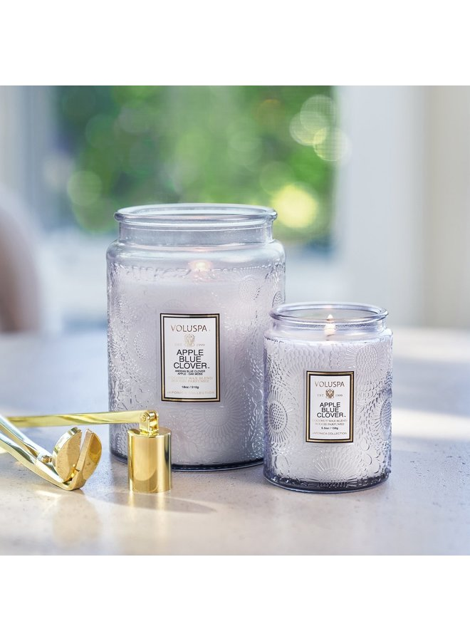 Apple Blue Clover 5.5 Mini Jar Candle