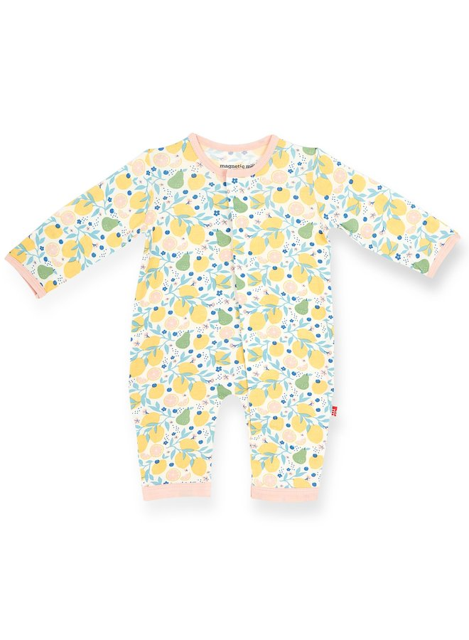Citrus Bloom Modal Magnetic Coverall