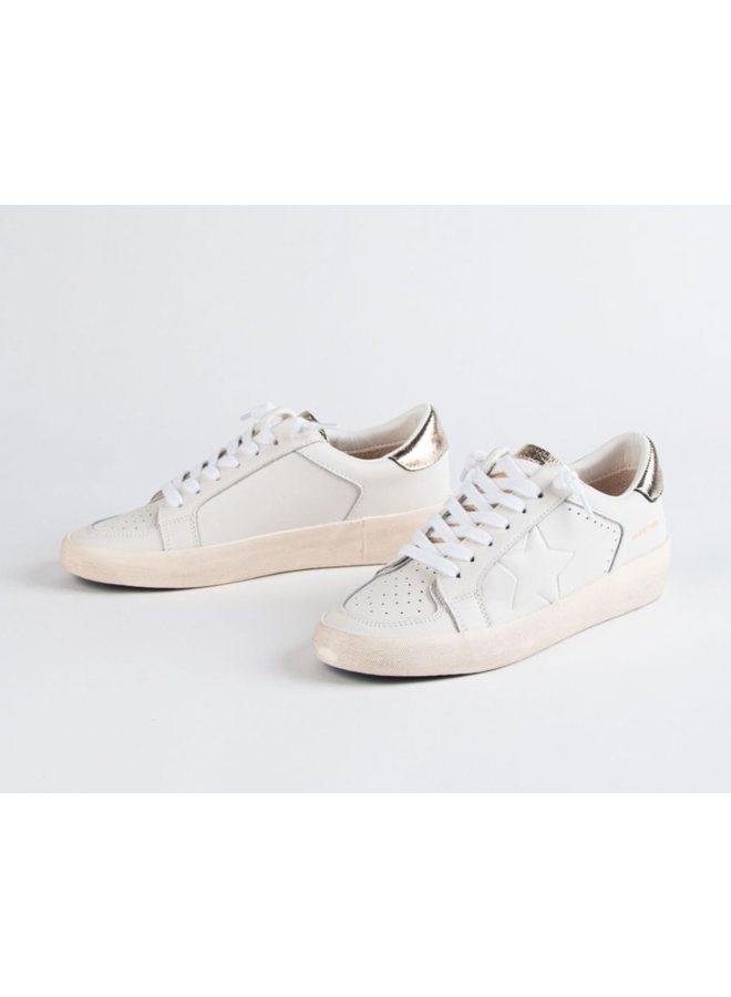 The Classics Gold and White Sneaker