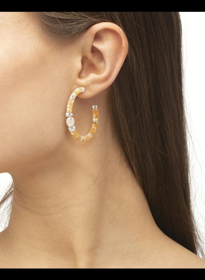 Lila Hoop Earring