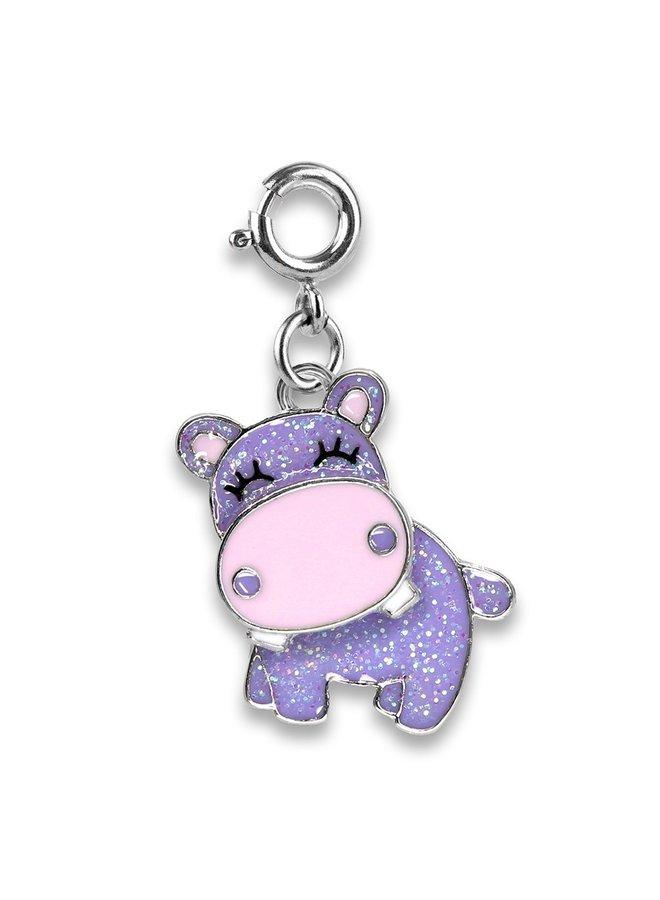 CHARM IT! Glitter Swivel Hippo Charm