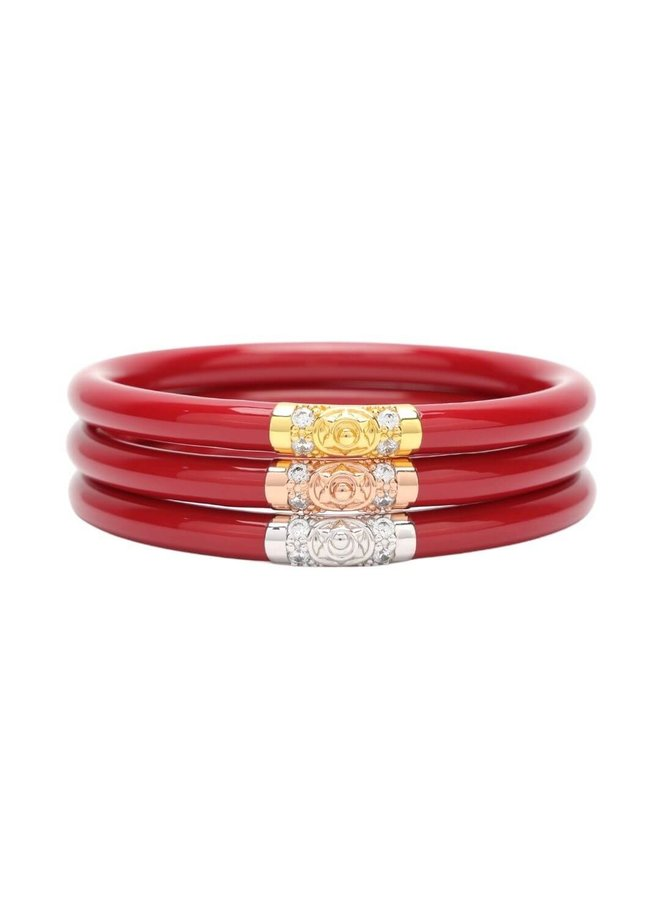 Red Three Kings All Weather Bangles