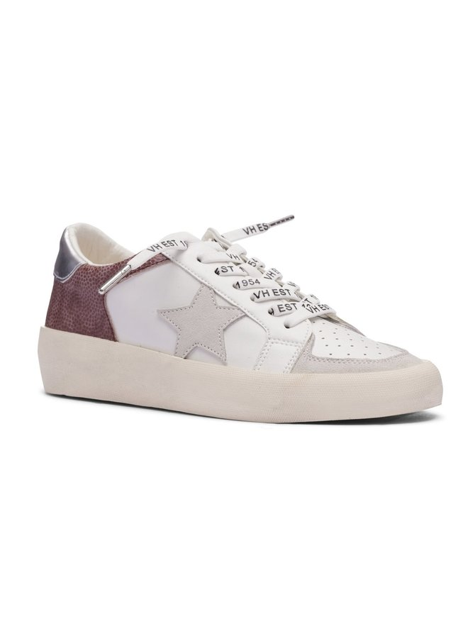 Edgemoore White/Blush Pebbled Sneaker