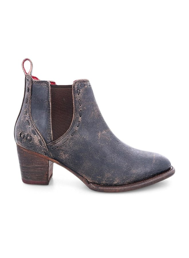 Brie Black Leather Boot