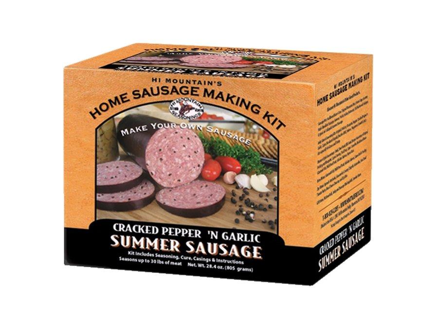 Hi Mountain Sausage Making Kit Cracked Pepper & Garlic