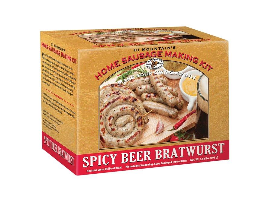 Hi Mountain Sausage Making Kit Spicy Beer Bratwurst