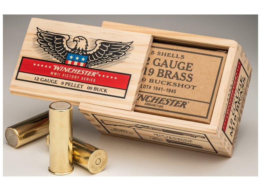 Winchester 12 Gauge M19 WWII Brass 00 Buckshot