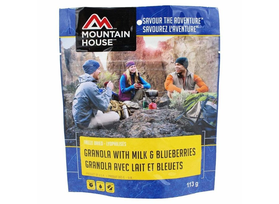 Mountain House Granola w/Milk & Blueberries