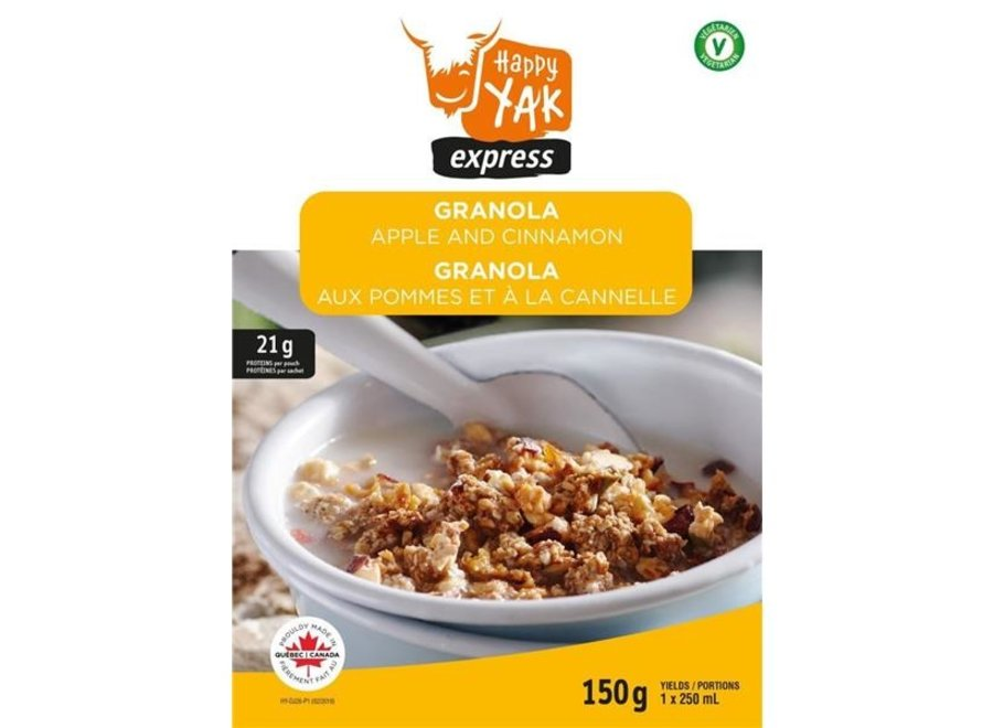 Happy Yak Apple & Cinnamon Granola