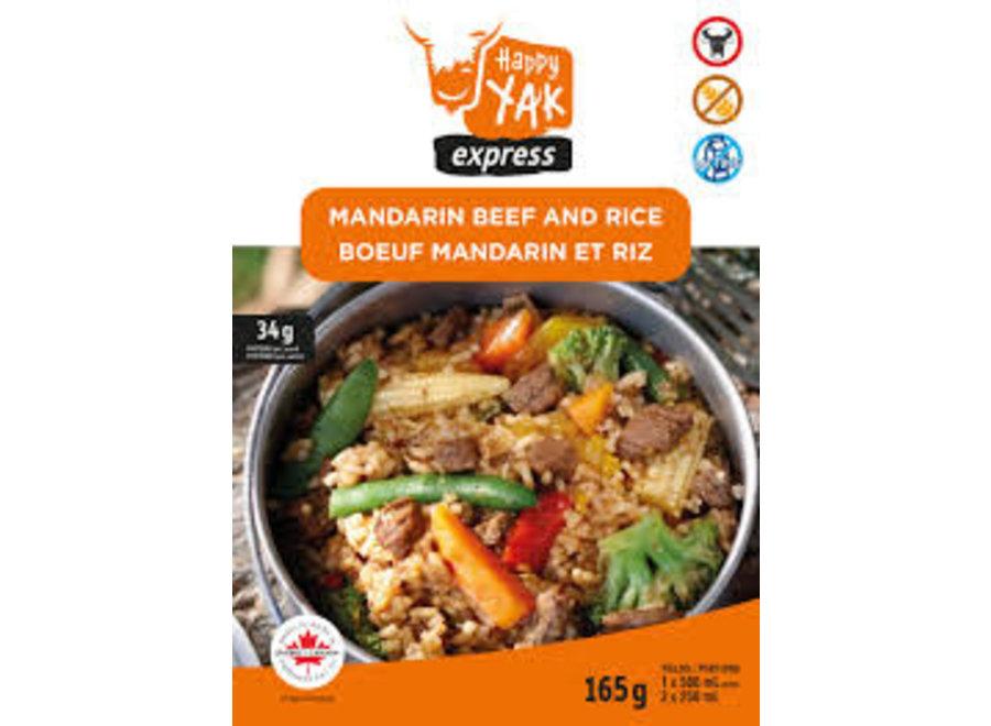 Happy Yak Mandarin Beef And Rice