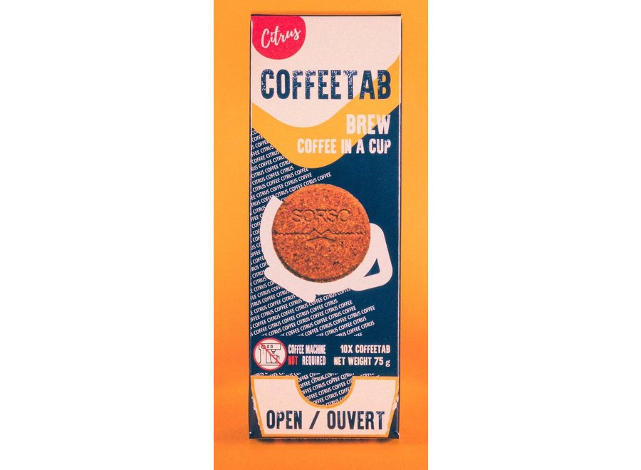 Coffeetab 10Pk Medium Dark Roast Citrus