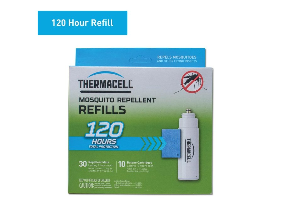 Thermacell Mosquito Repeller Refill 120-Hour Mega Pack (30 Repellent Mats and 10 Butane Cartridges)