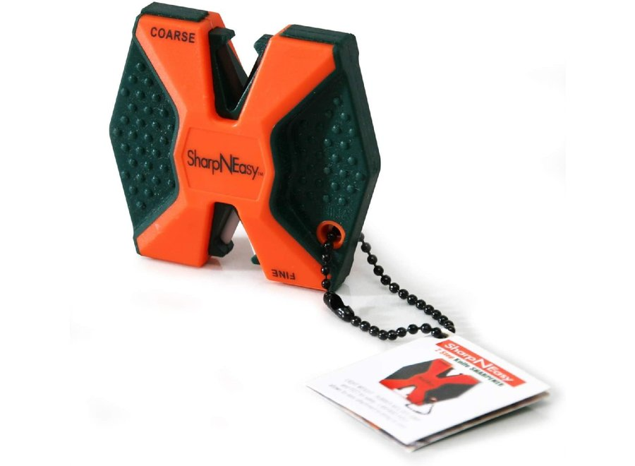 Sharp N Easy Blaze Orange 2-Step Ceramic Knife Sharpener