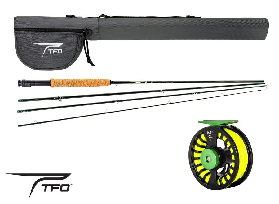 TFO NXT 5/6 WT Outfit w/GL1 Reel 4pc