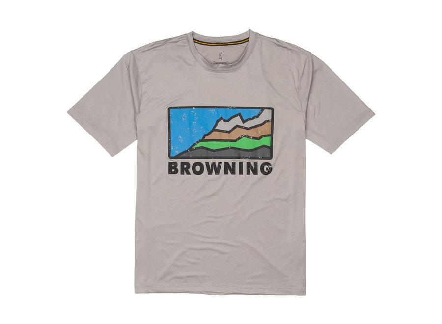 Browning Sun Sht SS Lt Grey Mens