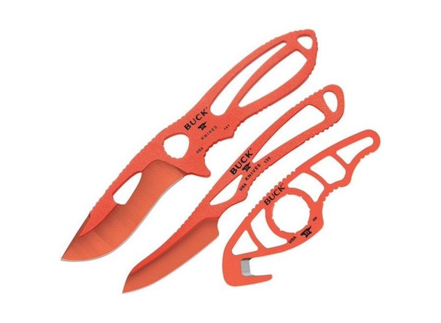 Buck Knives 141ORSVP1 PakLite Field Master Knife Kit Nylon Sheath