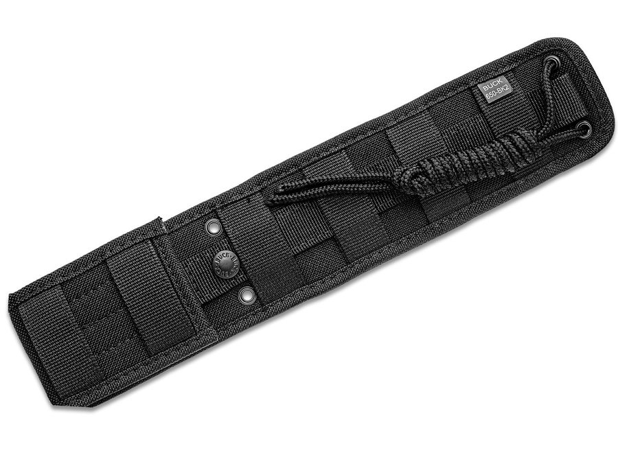 "Buck 655 Nighthawk Fixed Blade Knife 4.875"" 420HC Black Cerakote Clip Point, Black Rubberized Nylon Handles, Polypropylene Sheath"