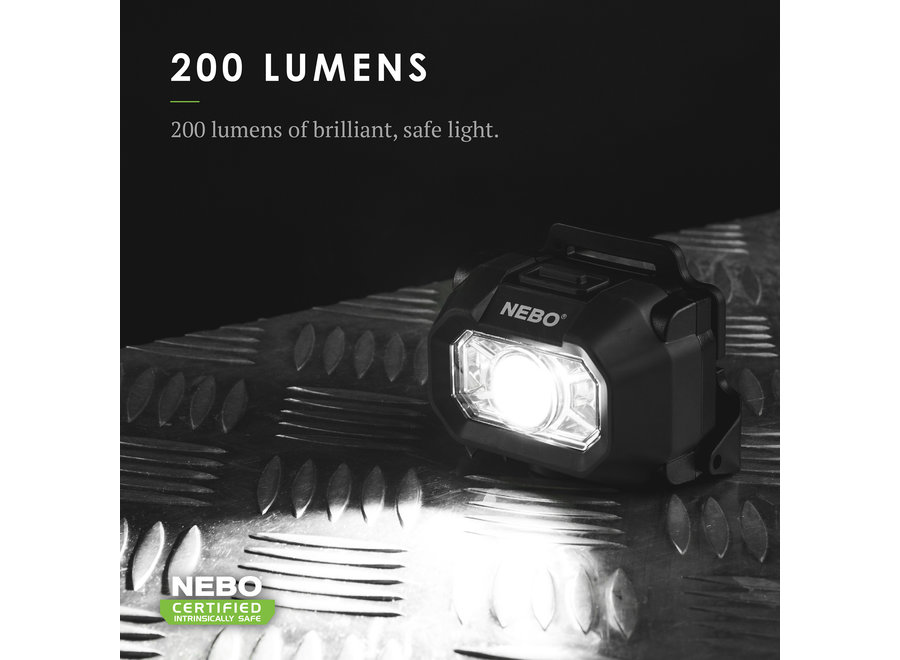 NEBO Intrinsically Safe LED Headlamp