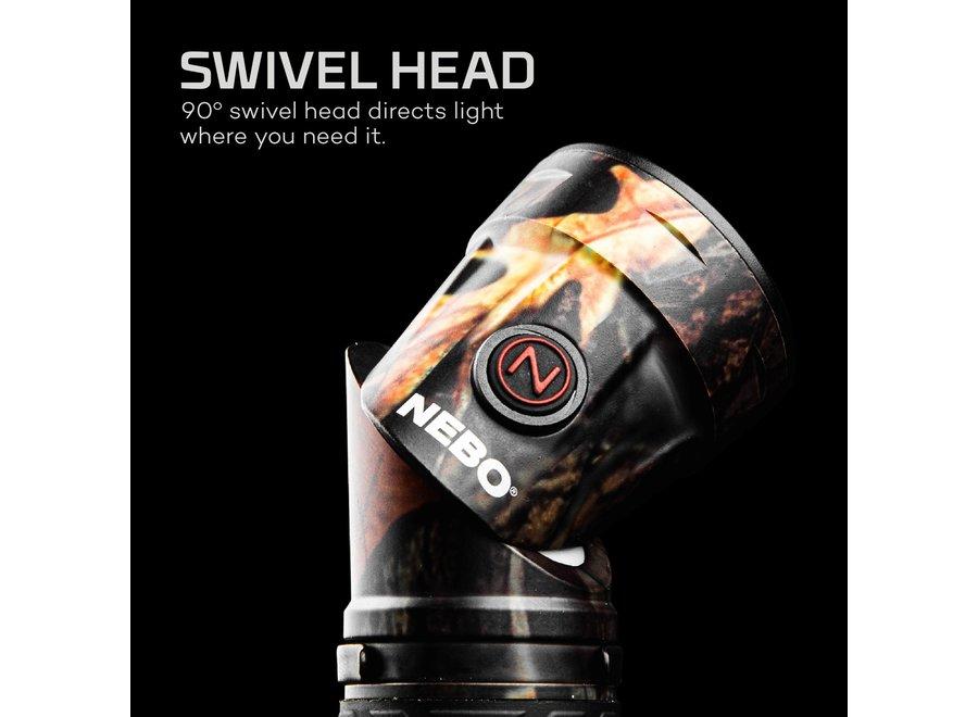 NEBO Flashlight Cryket Cob Work & Spot Grey