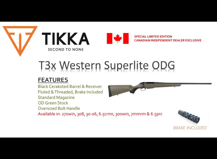 Tikka T3x Western Superlite OD Green
