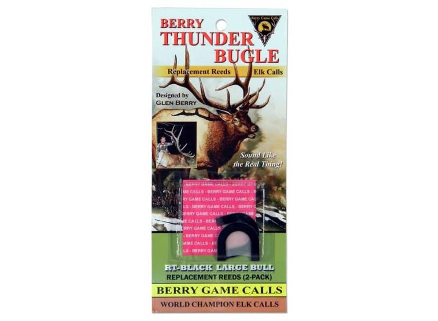 Berry Thunder Black Large Bull  Reeds