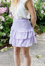 Lavender Smocked Skirt