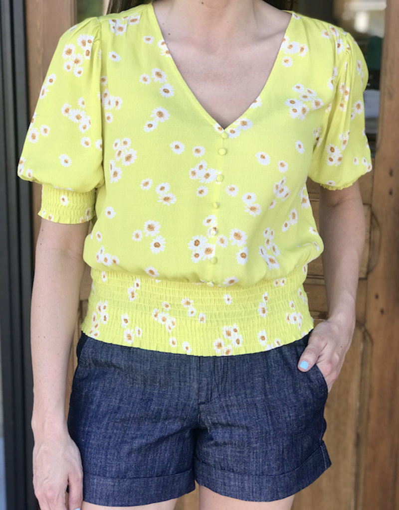 Ditsy Smocked Blouse