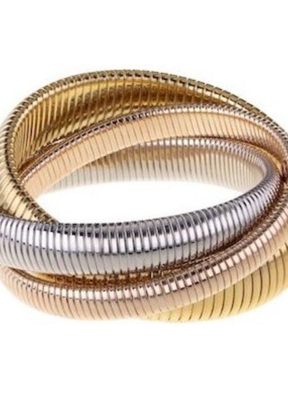 Triple Various Width Cobra Bracelets