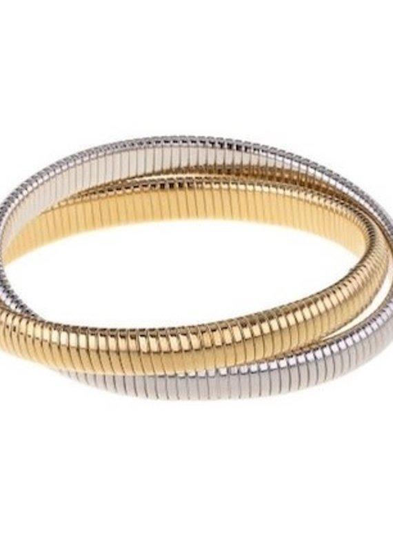 "Double 1/4"" Cobra Bracelet"