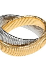 High Polish Double Cobra Bracelet
