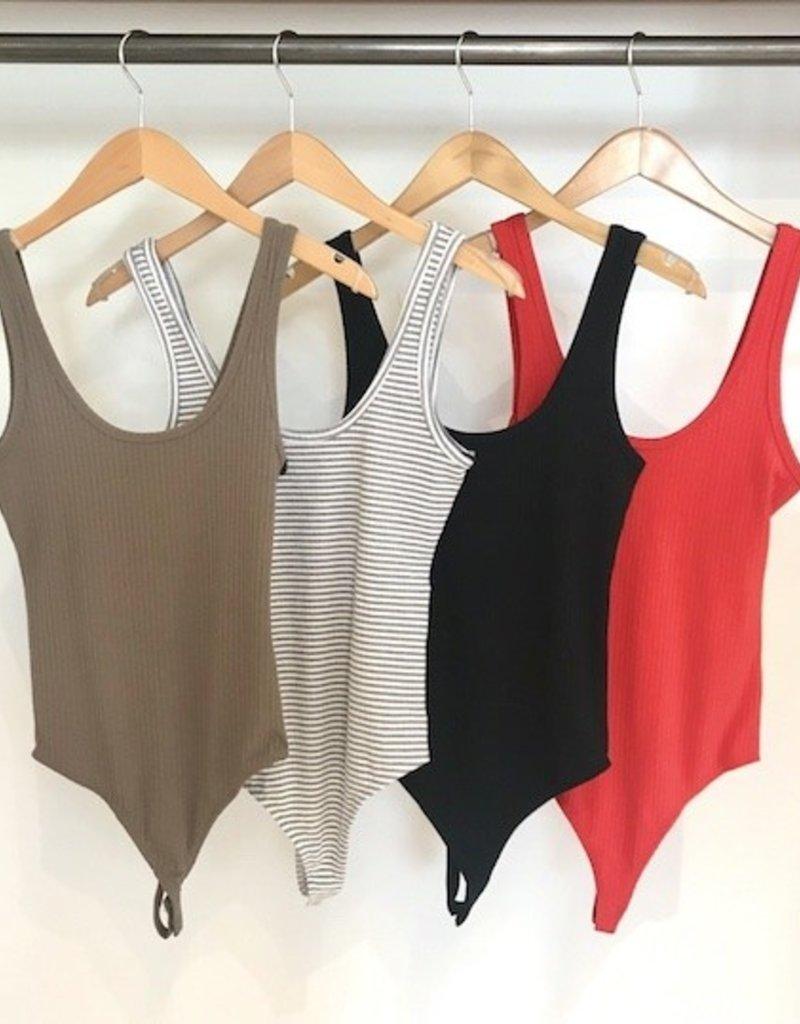 Dex Basic Ribbed Bodysuit