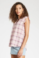 Dear John Carolina Plaid Blouse