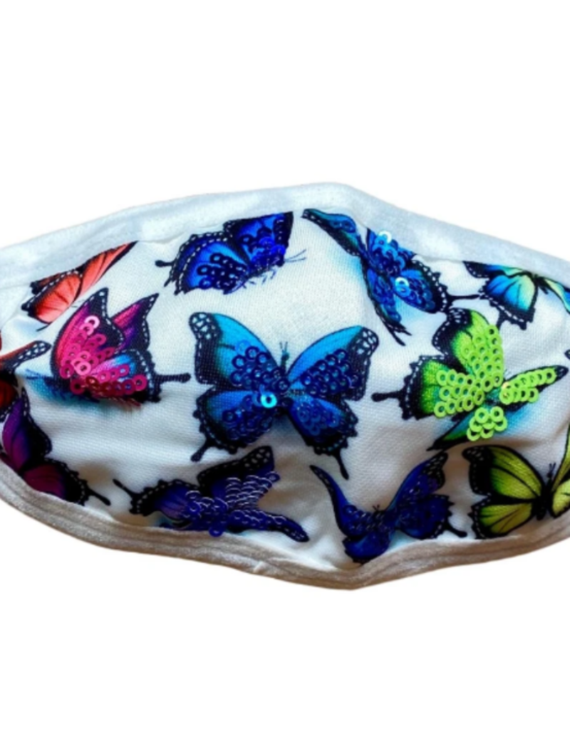 Sparkle City Bling Butterfly Kids Mask
